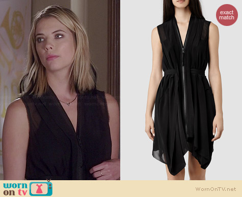 All Saints Lewis Dress worn by Ashley Benson on PLL