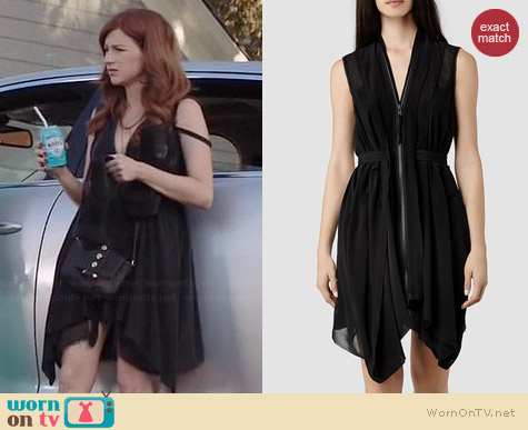 All Saints Lewis Dress worn by Aya Cash on You're the Worst