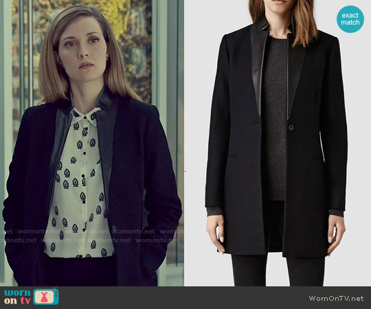 All Saints Lorie Coat worn by Delphine Cormier on Orphan Black