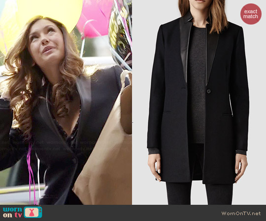 All Saints Lorie Coat worn by Nina Dobrev on The Vampire Diaries