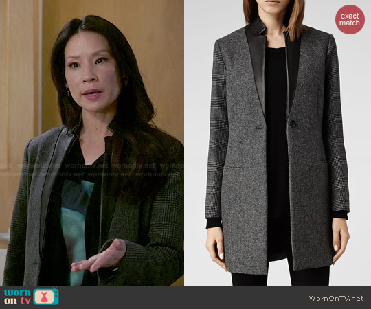 All Saints Lorie Tula Coat worn by Lucy Liu on Elementary