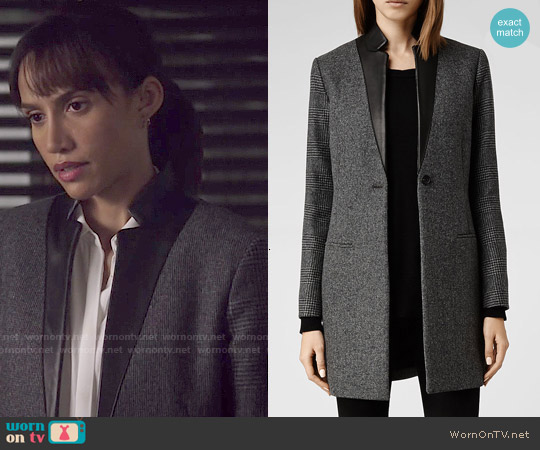 All Saints Lorie Tula Coat worn by Nina Lisandrello on Beauty & the Beast