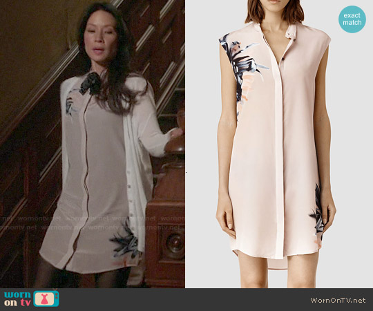 All Saints Luna Haze Dress worn by Lucy Liu on Elementary