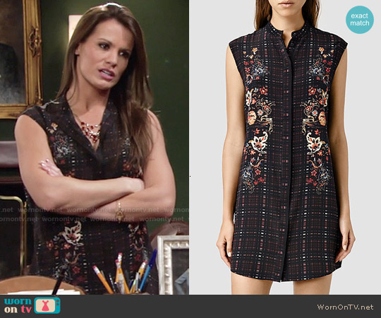 All Saints Luna Saloon Dress worn by Melissa Claire Egan on The Young & the Restless