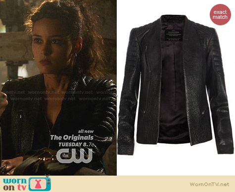 All Saints Marin Leather Jacket worn by Chelsea Gilligan on Star Crossed