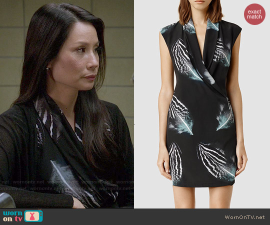 All Saints Nast Piuma Dress worn by Lucy Liu on Elementary