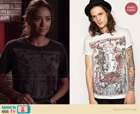 All Saints No Fun Tee worn by Shay Mitchell on PLL