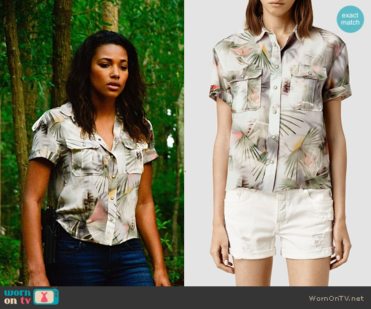 All Saints Octavia Colada Shirt worn by Kylie Bunbury on Under the Dome