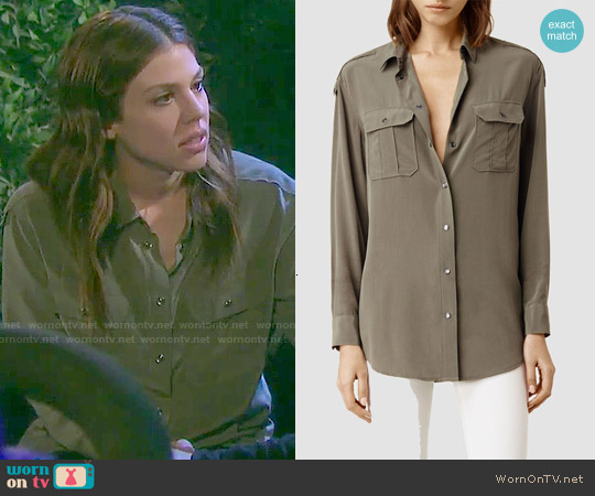 All Saints Octavia Se Shirt worn by Marci Miller on Days of our Lives