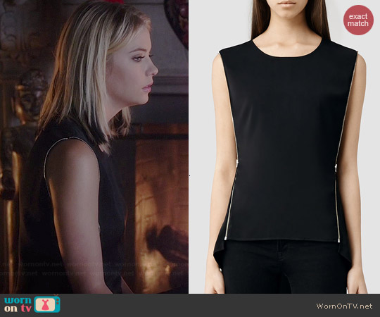 All Saints Ophelia Top worn by Ashley Benson on PLL