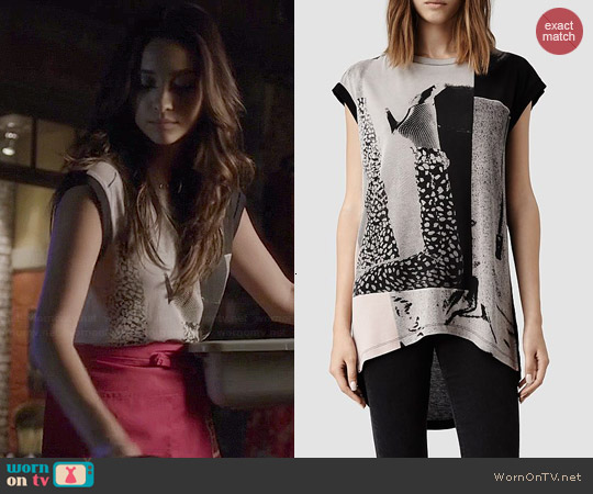All Saints Paradiso Top worn by Shay Mitchell on PLL
