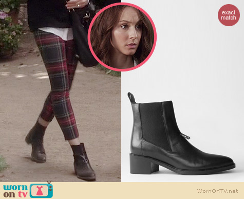 All Saints Pierced Boot worn by Troian Bellisario on PLL