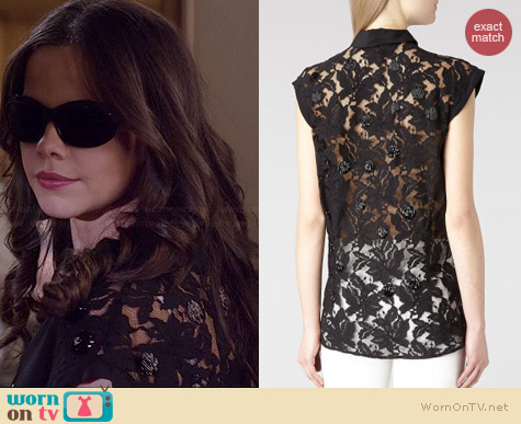 All Saints Pip Shirt worn by Tammin Sursock on PLL