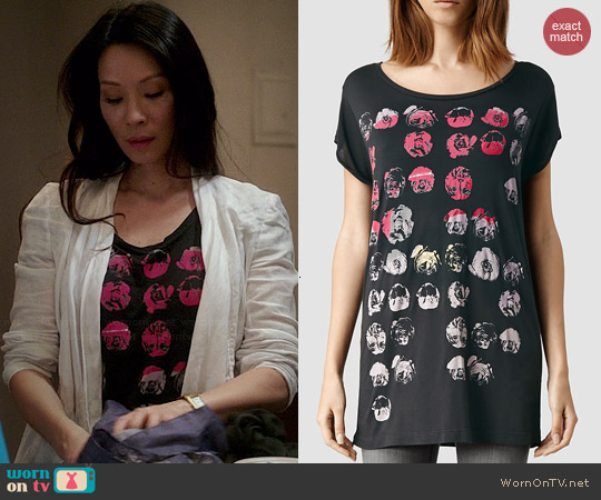 All Saints Poppy Crew T-shirt worn by Lucy Liu on Elementary