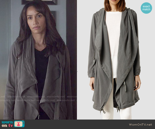 All Saints Portere Parka Jacket worn by Nina Lisandrello on Beauty & the Beast