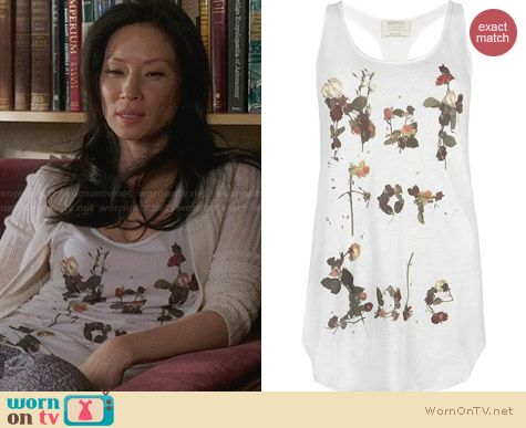 All Saints Pressed Tank worn by Lucy Liu on Elementary