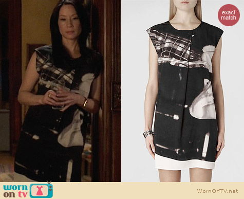 All Saints Resonate Dress worn by Lucy Liu on Elementary