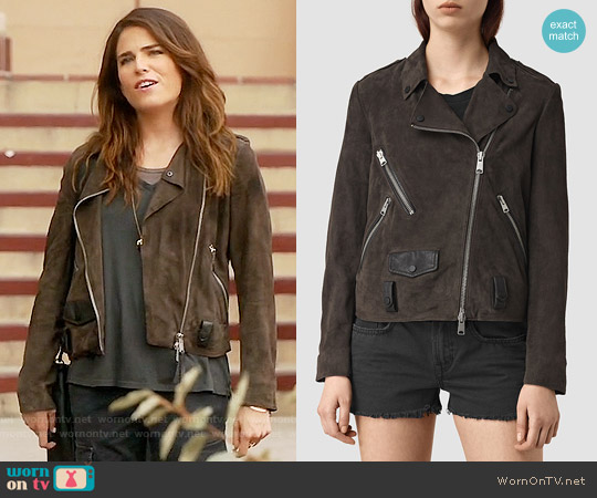 All Saints Richardson Jacket worn by Karla Souza on HTGAWM