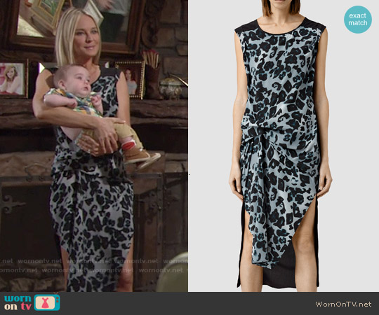 All Saints Riviera Leo Dress worn by Sharon Case on The Young & the Restless