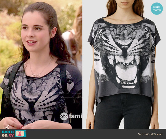 All Saints Roar Pina Tee worn by Vanessa Marano on Switched at Birth