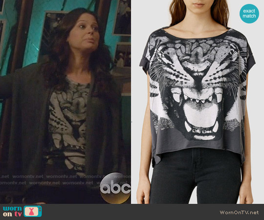 All Saints Roar Pina Tee worn by Katie Lowes on Scandal