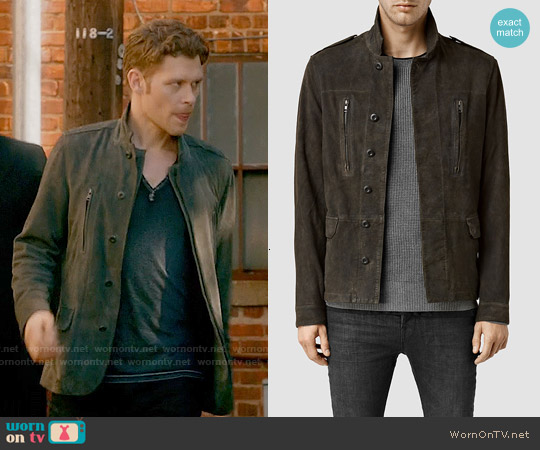 All Saints Sargent Leather Blazer worn by Joseph Morgan on The Originals