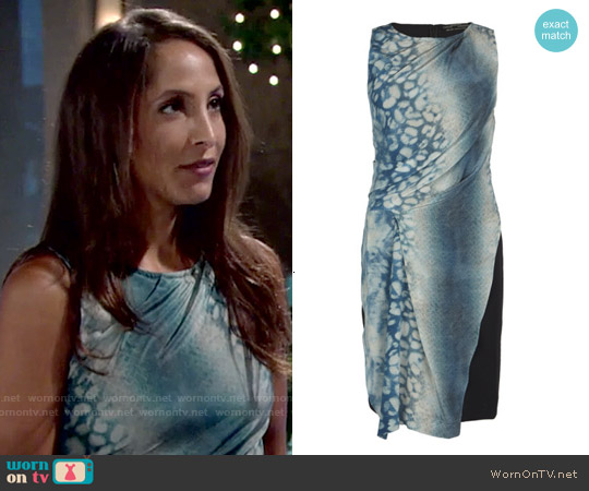 All Saints Serpent Dress worn by Christel Khalil on The Young & the Restless