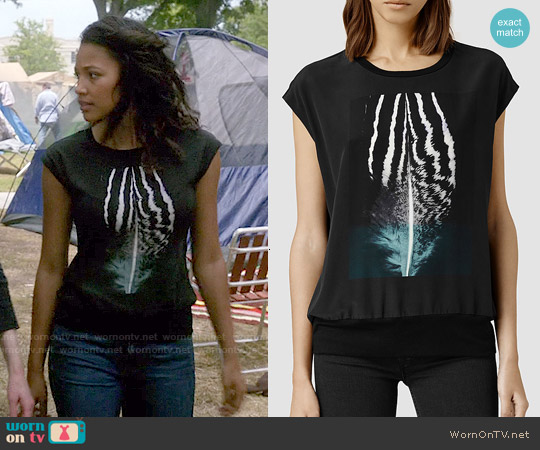 All Saints Strata Piuma Top worn by Kylie Bunbury on Under the Dome