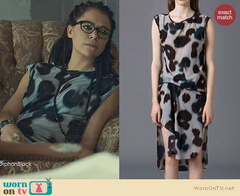 All Saints Teal Echo Riviera Dress worn by Tatiana Maslany on Orphan Black