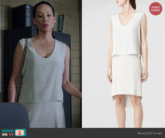 All Saints Tella Dress worn by Joan Watson on Elementary