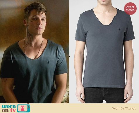 All Saints Tonic Scoop T-Shirt in Washed Ink worn by Matt Lanter on Star-Crossed