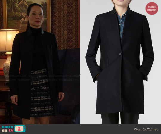 All Saints Vita Wool Coat worn by Joan Watson on Elementary