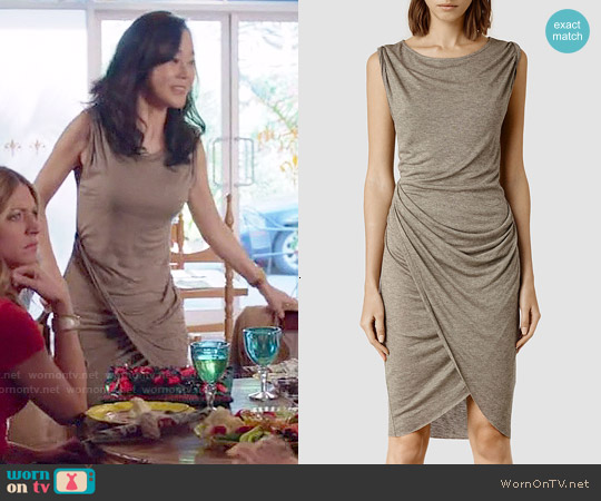 All Saints Warp Vi Dress worn by Yunjin Kim on Mistresses