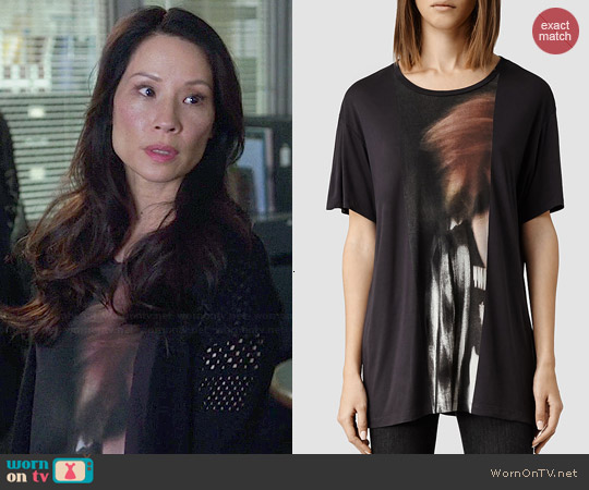All Saints Woosh T-shirt worn by Lucy Liu on Elementary