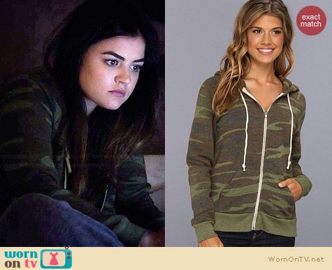 Alternative Adrian Hoodie in Eco Camo worn by Lucy Hale on PLL