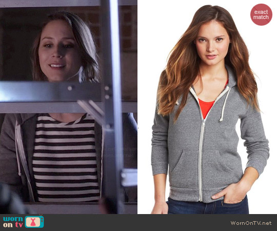 Alternative Adrian Hoodie in Grey worn by Troian Bellisario on PLL