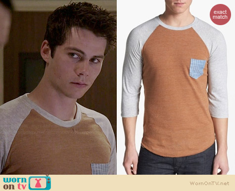 Alternative Baseball Pocket Tee worn by Dylan O'Brian on Teen Wolf