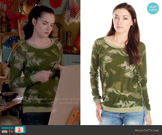 Alternative Locker Room Pullover in Paintbrush Camo worn by Vanessa Marano on Switched at Birth