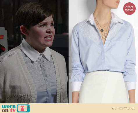 Altuzarra Chika Embroidered Shirt worn by Ginnifer Goodwin on OUAT