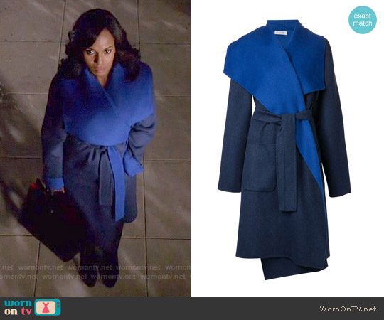 Altuzarra Double Face Opera Coat worn by Kerry Washington on Scandal