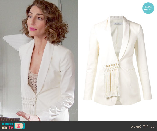 Altuzurra Fringe Detail Blazer worn by Necar Zadegan on GG2D