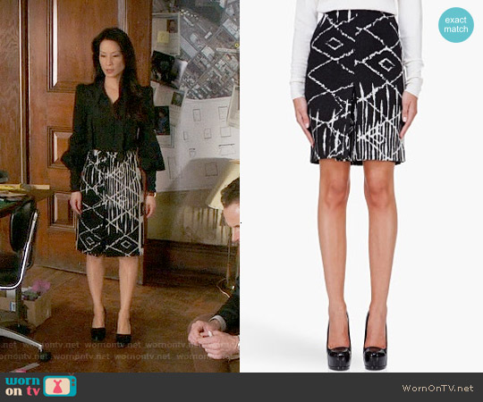 Altuzarra Harold Skirt worn by Lucy Liu on Elementary