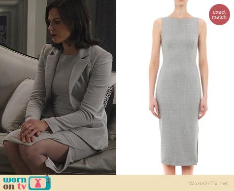 Altuzarra Sleeveless Shadow Sheath Dress worn by Lana Parrilla on OUAT