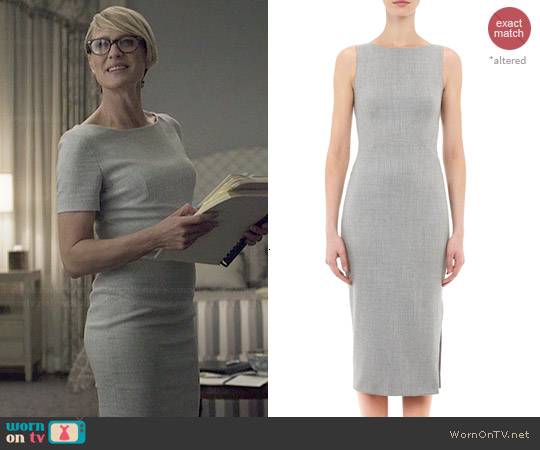 Altuzarra Sleeveless Shadow Sheath Dress worn by Robin Wright on House of Cards