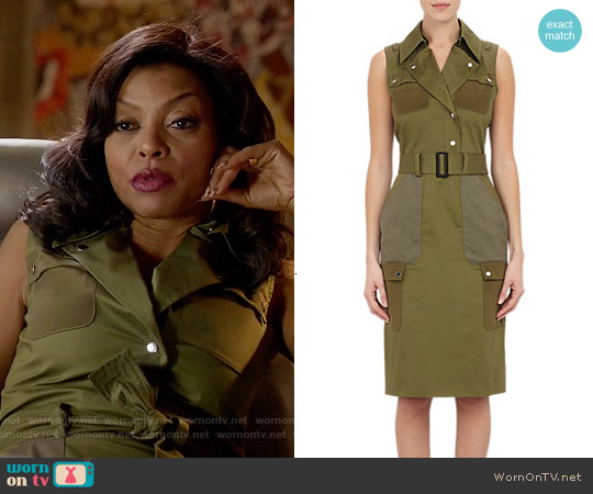 Altuzarra Snipe Stretch Cotton Sheath worn by Taraji P. Henson on Empire