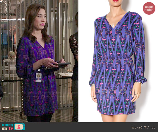 Amanda Uprichard Neon Aztec Print Dress worn by Michaela Conlin on Bones