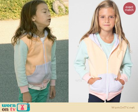 American Apparel Color Block Kids Hoodie worn by Aubrey Anderson Emmons on Modern Family