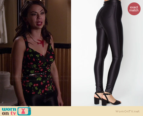 American Apparel Disco Pant worn by Janel Parrish on PLL