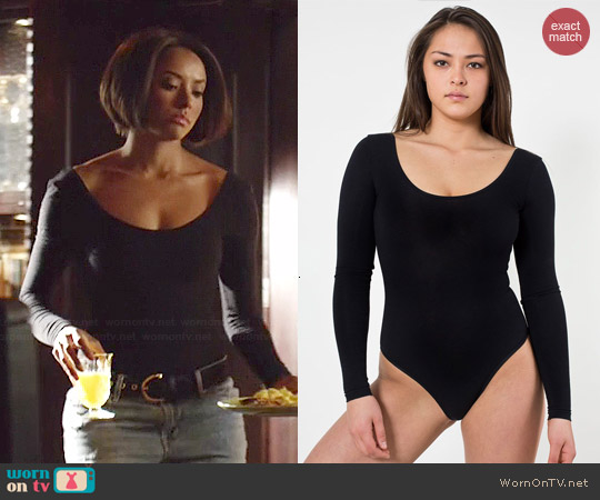 American Apparel U Neck Bodysuit worn by Kat Graham on The Vampire Diaries