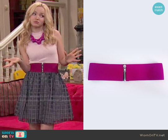 American Apparel Elastic Zipper Belt worn by Liv Rooney on Liv & Maddie